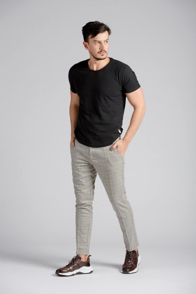 Ekose Regular Fit Chino Pantolon